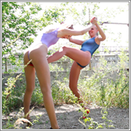 Low kicking fight - Emily vs Nastja - HD
