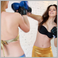 Punching and Kicking Training - Lexxi vs Stella - HD