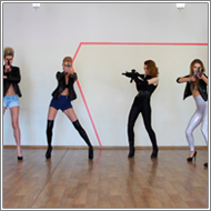 Models Gunbattle – Elena, Vicky, Renee, Laura