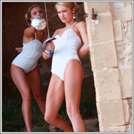 Duel in ancient ruins – Laura vs Blanca