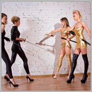 Rapiers vs Swords – Elena and Laura Vs Vicky and Renee