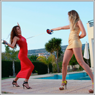 Rapier Duel by sunset – Blanca vs Lexxi