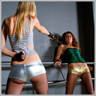 Lexxi vs Vicky in fencing duel