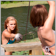 Bikini Duel on wooden pier – Elena vs Jillian