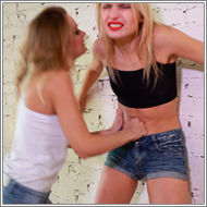 Belly Punching Catfight - Irene vs Laura - HD