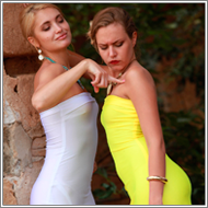 Catfight in long dresses – Blanca vs Laura