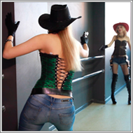 Fantasy cowgirl gunfight – Vera vs Jillian – HD