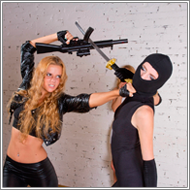 Ninja attack – Vera vs Jillian and Darcy