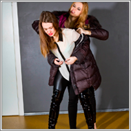 Catfight in winter jackets – Jillian vs Renee
