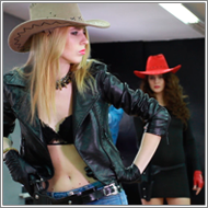 Cowgirls duel – Vera vs Vicky and Lexxi – HD