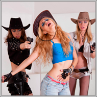 Cowgirls gunbattle – Vera, Renee and Jillian