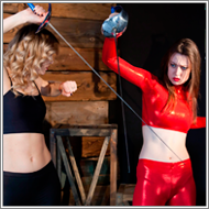 Fencing duel – Laura vs Renee