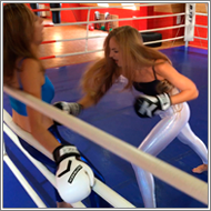 Boxing in the ring – Marta vs Emily – HD