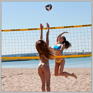 Beach volleyball catfight – Danni vs Sabrina