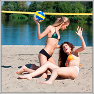 Beach volleyball catfight – Lexxi vs Maya