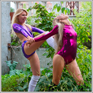 Outdoor dancers brawl – Amelie vs Darcy