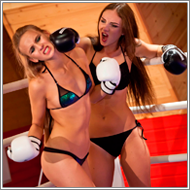 Bikini boxing in the ring – Tess vs Maya