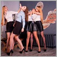 Office girls struggle – Blanca, Renee, Lisa and Maya