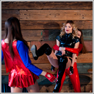 2-on-1 cosplay catfight – Sabrina vs Laura and Renee