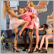 Apartment lingerie brawl – Elena, Jillian, Claire and Maya