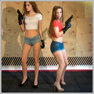 Prolonged Toygun Shooting – Danni vs Jillian – HD