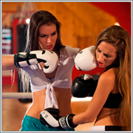 Kickboxing in the ring – Fiona vs Danni