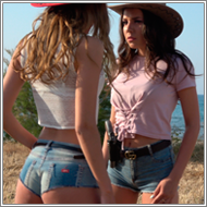 Outdoor cowgirls duel – Sabrina vs Jillian – FULL HD