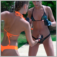 Bikini belly punching - Maya vs Jillian - FULL HD