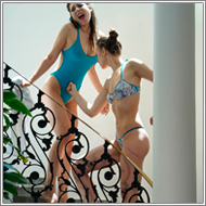Bikini catfight on stairs – Sabrina vs Renee