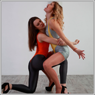 No-Rules wrestling match – Laura vs Renee