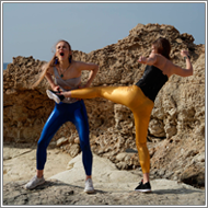Catfight in the rocks – Maya vs Tess