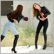 Outdoor Fecning Duel – Jillian vs Tess