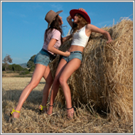 Cowgirls catfight– Sabrina vs Jillian - HD