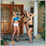 Villa duel – Tess vs Maya and Sabrina