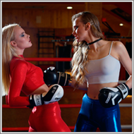 Boxing in the ring – Britt vs Maya