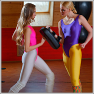 Workout punching class – Maya vs Britt