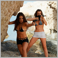 Beach assault – Sabrina and Renee