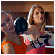 Boxing match in the ring – Lisa vs Hanna