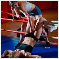NHB fight in the ring – Maya vs Britt