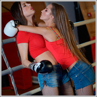 Boxing match in the ring – Danni vs Sophie