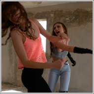 Bad Girls fight in ruins – Tess vs Jillian – FULL HD