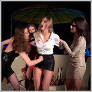 Four vs One party night catfight - FULL HD