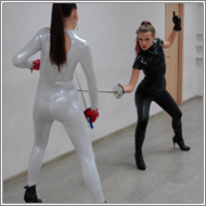 Fencing Duel in catsuits - Fiona vs Jillian