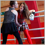 Boxing in the ring – Zoe vs Alisha